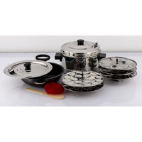 Mahavir 12Pc Induction Base Idly Cooker With 36Mini Idly Plate Free And Non Stick Induction Base Kadai -210Mm