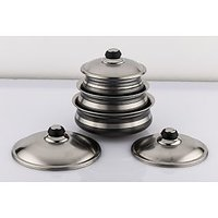 Mahavir 6Pc Baby Corn Black Cook & Serve Pot Set