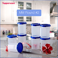 Tupperware MM Round#2 (Set Of 8)