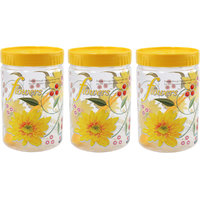 SKI Printed Easy Pet Jars 900ml ( 3 Piece Set With Spoons)