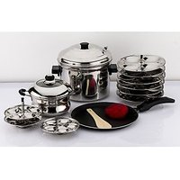 Mahavir 12Pc With Idly And Mini Idly Cooker Combo With Dosa Tawa And Non Stick Kadai