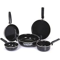 Branded Dezire Non Stic Cookware Set Of 5 Pcs Hard Coat Induction Cookware