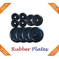 Welkin 10 KG SPARE RUBBER WEIGHT PLATES WITH BUSH
