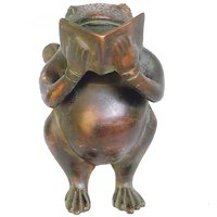 Frog Reading A Book In Metal Sculpture For Indoor Decoration By Aakrati