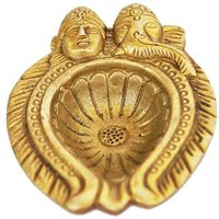 Aakrati - Decorative Handmade Lord Laxmi Ganesha Face Diya