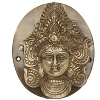 Goddess Durga Face Door Knocker In Antique Finish By Aakrati