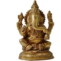 Religious Statue Of Lord Ganesha Of Brass By Aakrati