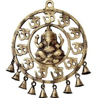 Ganesh Plate With Om And Bells By Aakrati