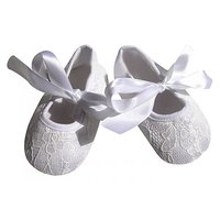Pinkxenia Infant White Anti-Slip Prewalker Lace Sandals Baby Girl Shoes