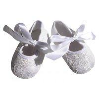Pinkxenia Infant White Anti-Slip Prewalker Lace Sandals Baby Girl Shoes