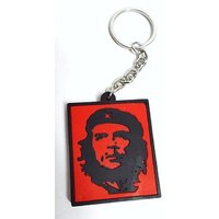 High Quality Silicon Rubber Che Guevara Keychain