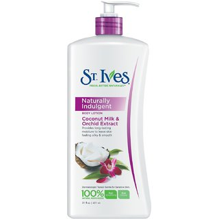 St. Ives Naturally Indugent Body Lotion, Coconut Milk and Orchid Extract-621ML