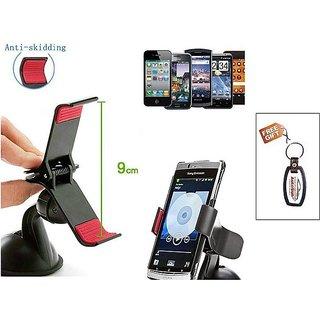 Autosun Nokia Asha 309  Car Mobile Clip/Holder - Free Key Chain