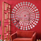 Best Dcor Duck Dots silver pack of 100 Acrylic Sticker, 3D Acrylic Sticker, 3D Mirror, 3D Acrylic Wall sticker, 3D Acrylic stickers for wall, 3D Acryl