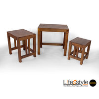 Mango Wood Nested Stool Set Of 3 (PFA-90003)