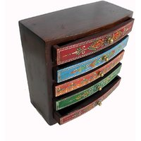 Wooden Hand Made Hand Painted 5 Drawer Box #1866
