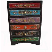 Wooden Hand Made Hand Painted 6 Drawer Box #1868