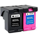 GREEN hp 803 black and tricolor cartridge Multi Color Ink PACK OF 2