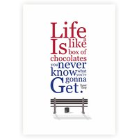 Life Is Like A Box Of Chocolate Forrest Gump Movies Quotes Typography Poster