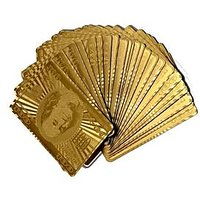 Bring A Touch Of Glamour To Your Next Card Game With A Set Of Golden Playing Cards