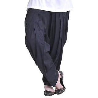 Women's Black Full Patiala salwar