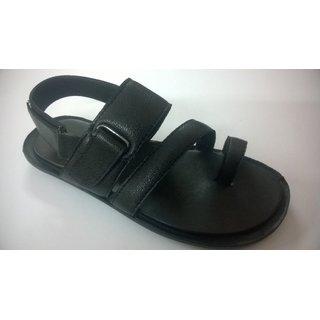 Men's Semi-Casual PU Sandal Black