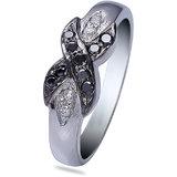 Ziveg Black Stone & Swarovski Ring (ZSR001027)