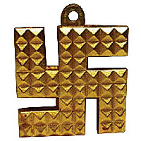 Vastu Swastik/swastik Pyramid/ashtadhatu Swastik Hanging For Protection-New Pyramid Swastik Hanging For Protection. Swastik With Pyramid Sign Is Very Lucy Charm As Swastik Is A Symbol Of Ganesha And Pyramids Are Used For Energizing According To Feng Shui