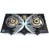 Surya Automatic 3 Burner Gas Stove With Toughened Glass Top