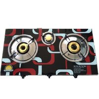 Automatic 3 Burner Cook Top With 7mm Designer Glass Top LPG Gas Stove