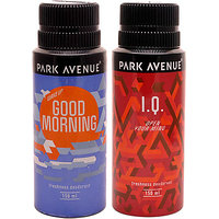 Pack Of 2 Deodorants Combo Set Park Avenue Good Morning, Iq