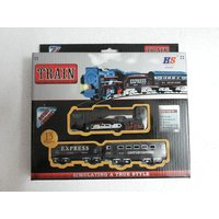 Rail King Battery Operated Train Track Set For Kids