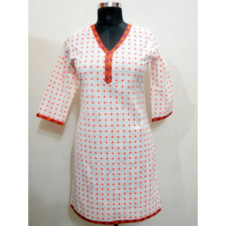 Kismat Collection Khadi Print Cotton Kurti