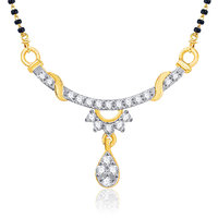 VK Jewels Charming Gold and Rhodium Wedding Mangalsutra
