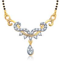 VK Jewels Creative Design Gold and Rhodium Wedding Mangalsutra