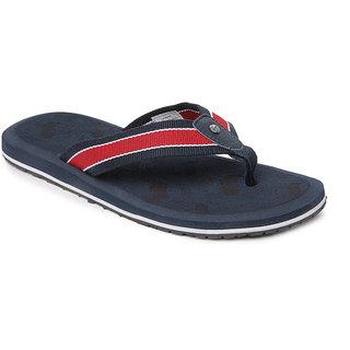GAS Men Navy Blue & Red Flip Flops U.k 7