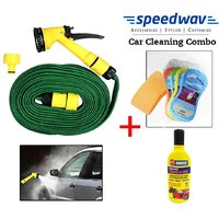 Speedwav Pressure Spray Jet Gun 10 Meter + Abro Shampoo100ML + Magic Sponge