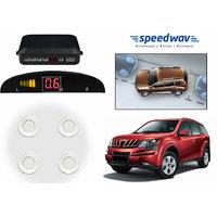 Speedwav Reverse Car Parking Sensor LED Display WHITE - Mahindra XUV 500
