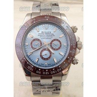 Rolex Daytona Blue Steel Swiss Made Automatic Mens Watch