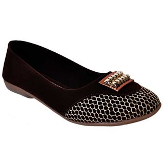 Jolly Jolla Shyna Brown Flat Bellerinas SKM0242CW
