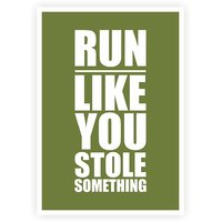 Jogging Exercise In Gym Inspirational Quotes Poster For Gym Wall Décor