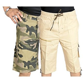 Factorydirect Men's Multicolor Shorts (Combo of 3)