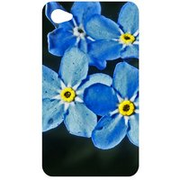 Water Flowers Forget Me Not Back Cover Case For Apple IPod Touch 4
