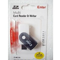 Enter USB Mini Multi Card Reader And Writer -USB 2.0 All In 1 Card Reader Writer - 6092028