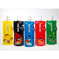 Set Of 5 Angry Birds Foldable Reusable Water Bottles Rs199