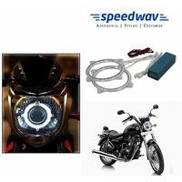 Speedwav Bike Halo CCFL Tube Angel Eyes Light WHITE- Bullet Thunderbird 500