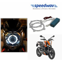 Speedwav Bike Halo CCFL Tube Angel Eyes Light WHITE- KTM Duke 200