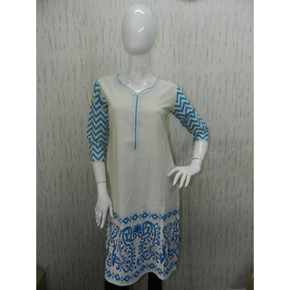 Block Printed And Screen Printed Kurtis