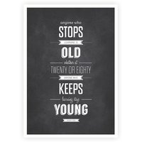 Anyone Who Stops Learning Education Inspirational Quotes Wall Décor Poster