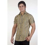 Blue Port Trendy Casual Shirt For Men (Yellow)